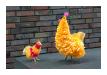 Hühner, RSA, Handarbeit, Material: Recycling Tüten, klein: 14,00, groß: 21,00 (Art:kl. 90002658 / gr. 90001144)
