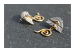 Ohrring aus Bali, Material: Amethyst, silber, teilvergoldet, 114,00 €  (Art: 90003896)