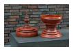 Opfergefäß aus Burma, Material: Teakholz, ca. 60 Jahre alt, Höhe 100cm, Durchmesser 31cm, 590,00 €   (Art:90003564)