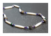 Kette aus Bali, Material: Amethyst, Knochen und Silber, 125,00 €  (Art: 90004177)