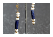 Ohrringe aus Indien, Material: Lapis, Perlen, 95,00 €  (Art: 900060029)